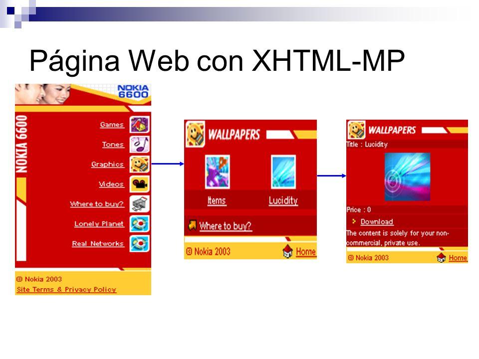 Página Web con XHTML-MP