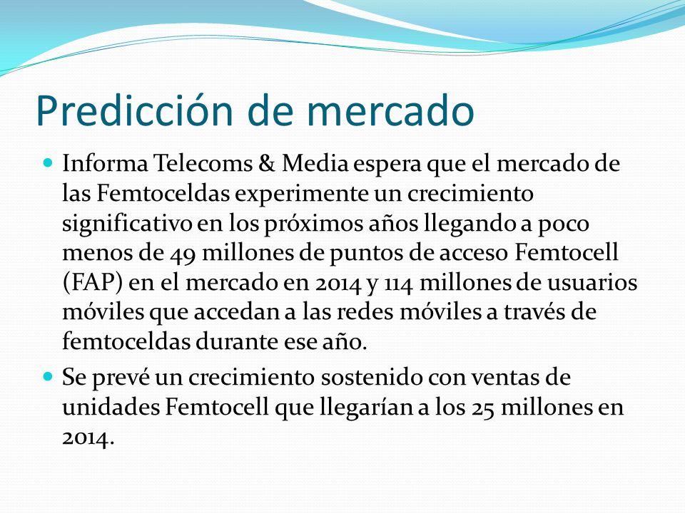 Predicción de mercado Informa Telecoms & Media espera que el mercado de las Femtoceldas experimente un crecimiento significativo en los próximos años
