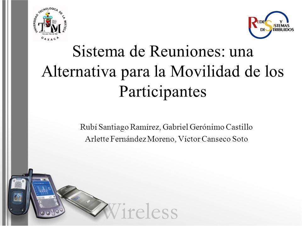 Sistema de Reuniones: una Alternativa para la Movilidad de los Participantes Rubí Santiago Ramírez, Gabriel Gerónimo Castillo Arlette Fernández Moreno