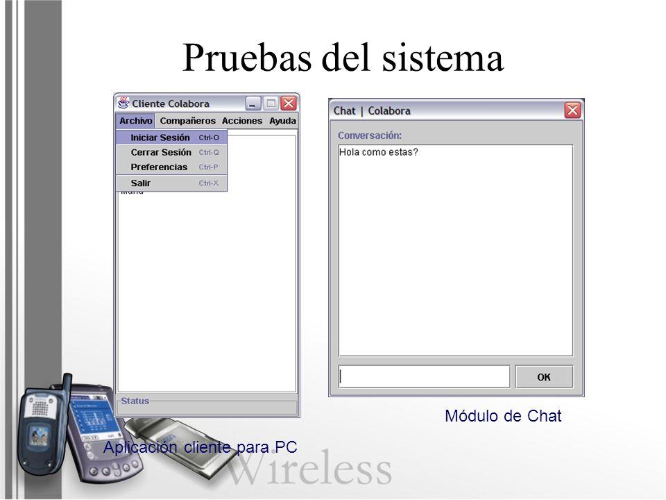 Aplicación cliente para PC Módulo de Chat