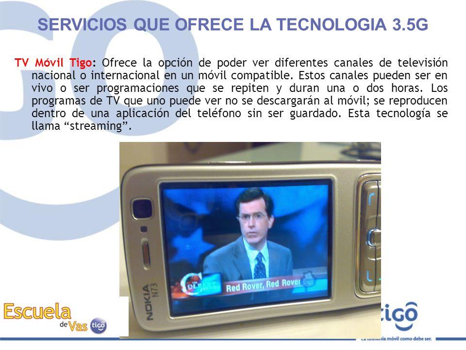 TV Móvil Tigo: Ofrece la opción de poder ver diferentes canales de televisión nacional o internacional en un móvil compatible. Estos canales pueden se
