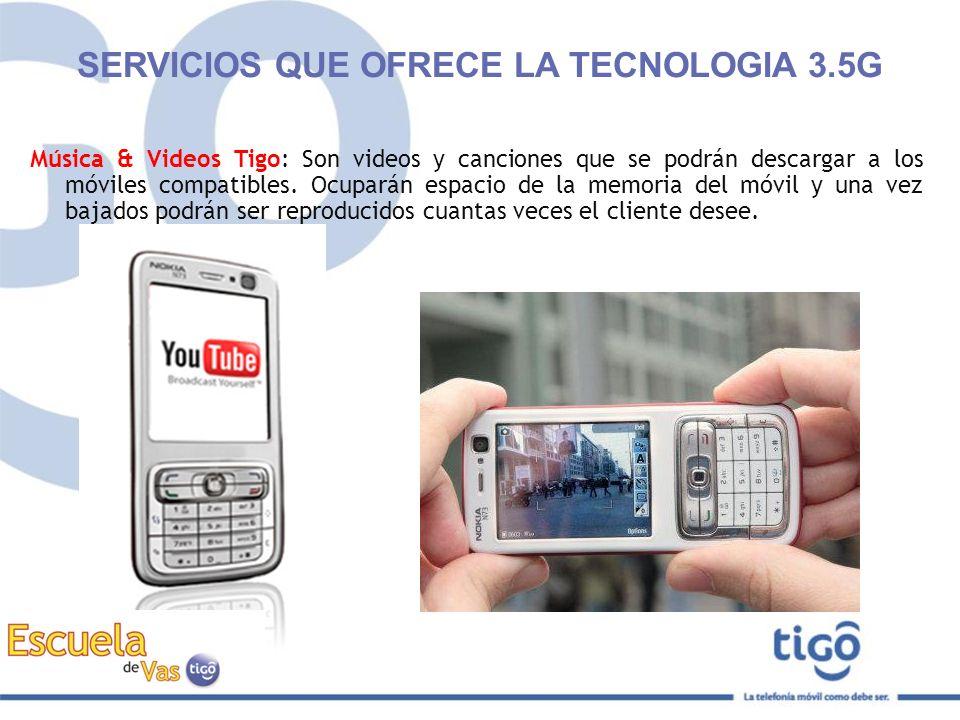 Música & Videos Tigo: Son videos y canciones que se podrán descargar a los móviles compatibles. Ocuparán espacio de la memoria del móvil y una vez baj