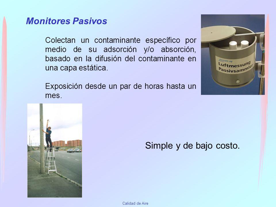 Calidad de Aire Monitores Activos Los burbujeadores acidimétricos para SO 2, el método de filtración para Humo Negro, y el método gravimétrico de Alto