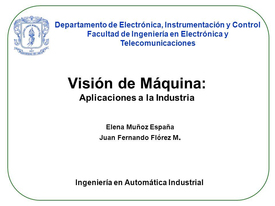 DEIC 2009 Ingeniería en Automática Industrial Paso1: Segmentación (Filtrado Partículas) Filtro de partículas: criterio área.
