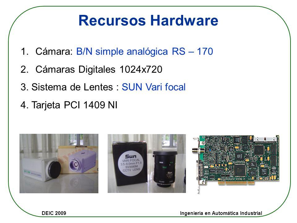 DEIC 2009 Ingeniería en Automática Industrial … Contenido 5.APLICACIONES INDUSTRIALES Control de calidad Selección y clasificación de piezas Ejemplos