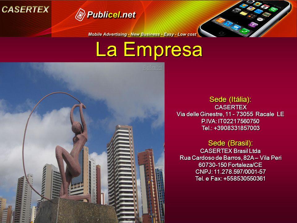 Sede (Itália): CASERTEX Via delle Ginestre, 11 - 73055 Racale LE P.IVA: IT02217560750 Tel.: +3908331857003 Sede (Brasil): CASERTEX Brasil Ltda Rua Cardoso de Barros, 82A – Vila Peri 60730-150 Fortaleza/CE CNPJ: 11.278.597/0001-57 Tel.