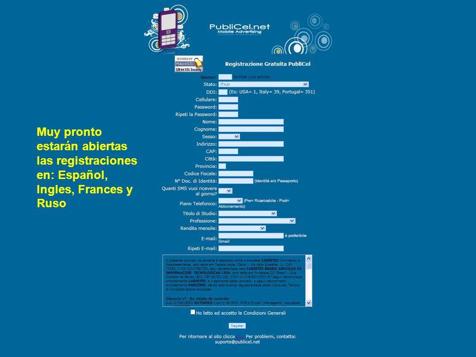 Muy pronto estarán abiertas las registraciones en: Español, Ingles, Frances y Ruso