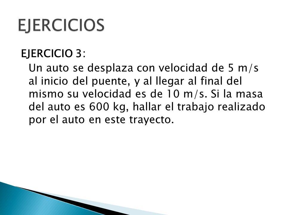 EJERCICIO 4: Un atleta se desplaza con velocidad de 2 m/s en el punto A, y al llegar al punto Bsu velocidad es de 8 m/s.