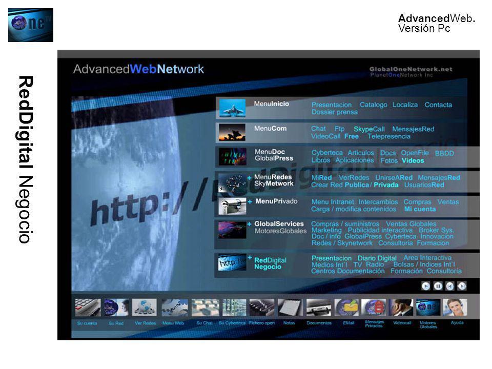 RedDigital Negocio AdvancedWeb. Versión Pc