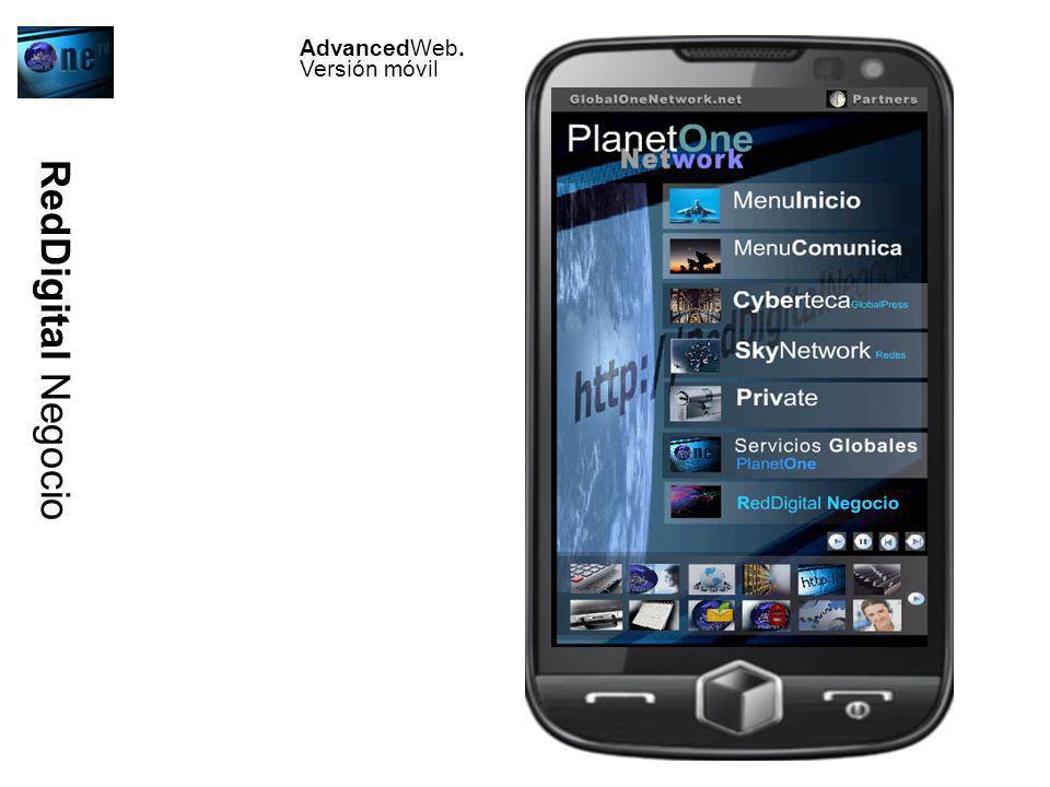 RedDigital Negocio AdvancedWeb. Versión móvil