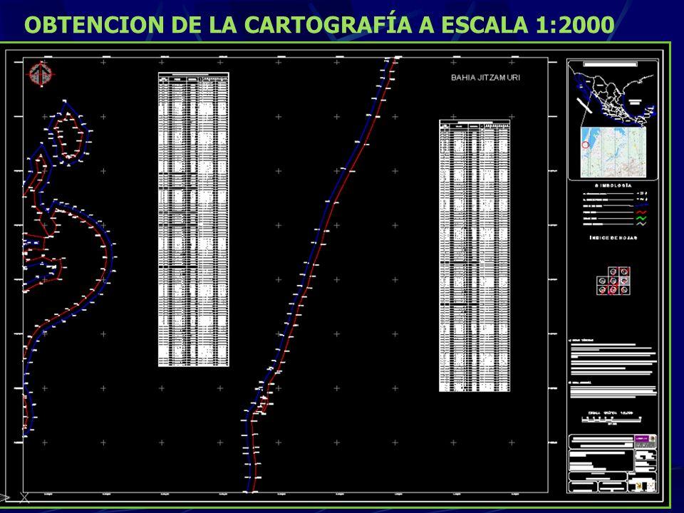 El producto final se entregó: En cartas a escala 1:2000 dibujadas en AutoCAD. Las cartas contienen las especificaciones y nomenclatura estipulada en N