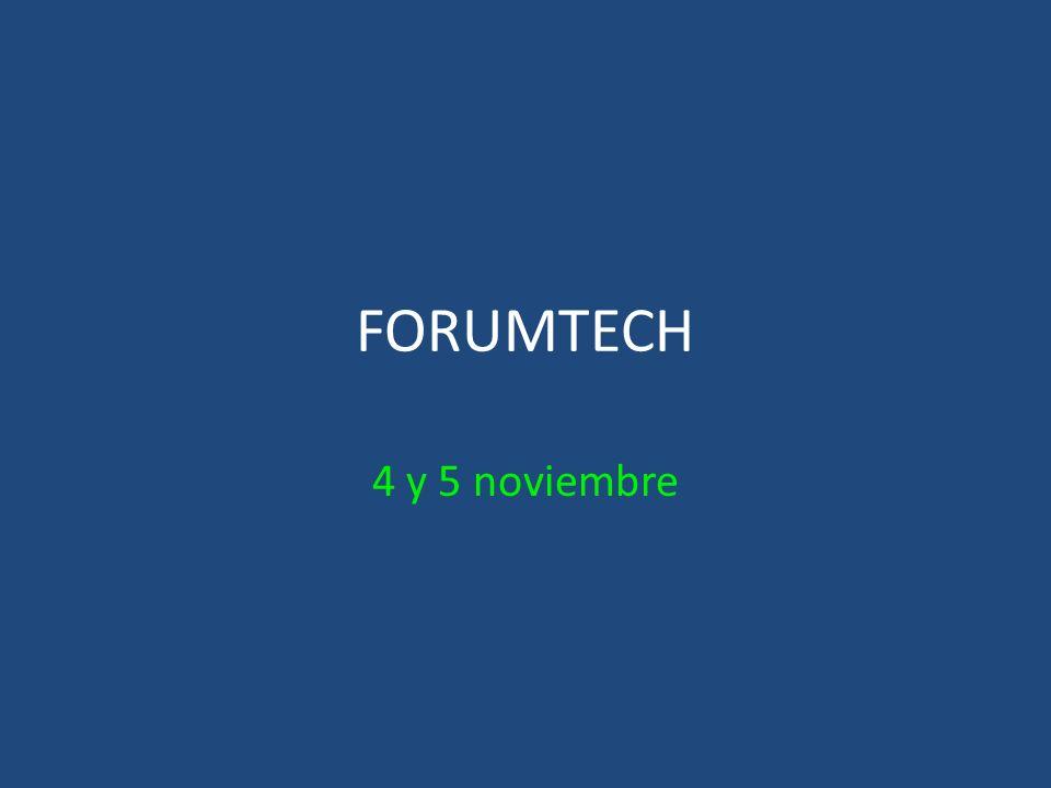 FORUMTECH 4 y 5 noviembre