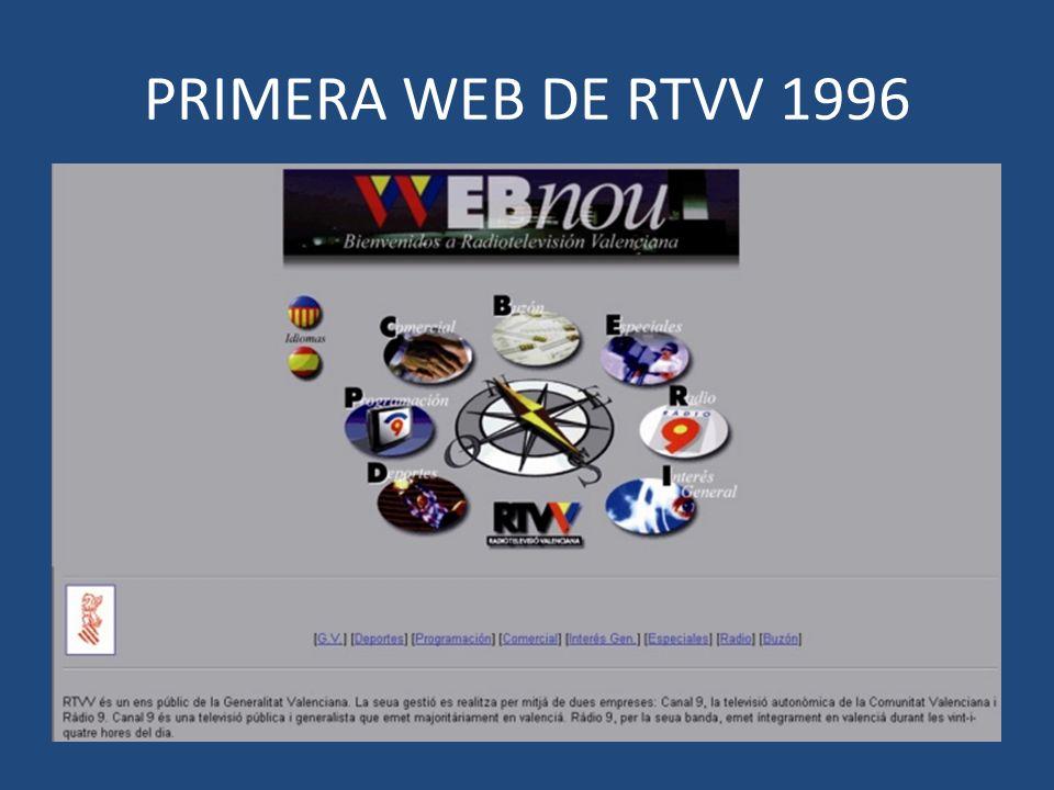 PRIMERA WEB DE RTVV 1996