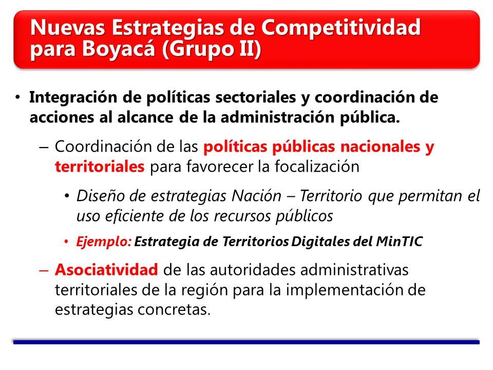 Integración de políticas sectoriales y coordinación de acciones al alcance de la administración pública. – Coordinación de las políticas públicas naci