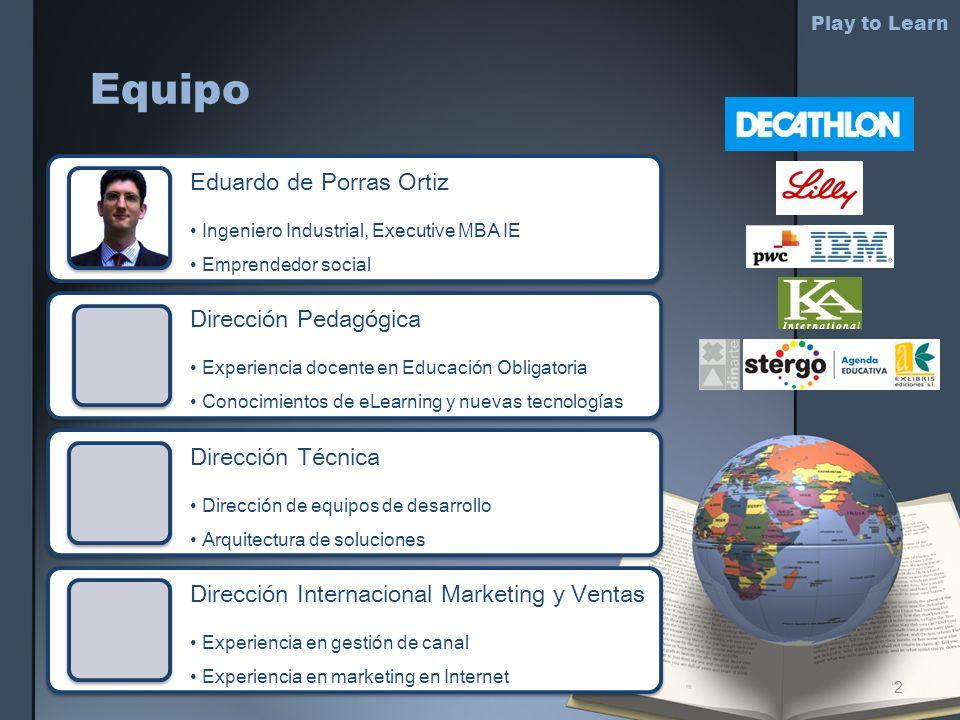 Equipo Eduardo de Porras Ortiz Ingeniero Industrial, Executive MBA IE Emprendedor social Dirección Pedagógica Experiencia docente en Educación Obligat