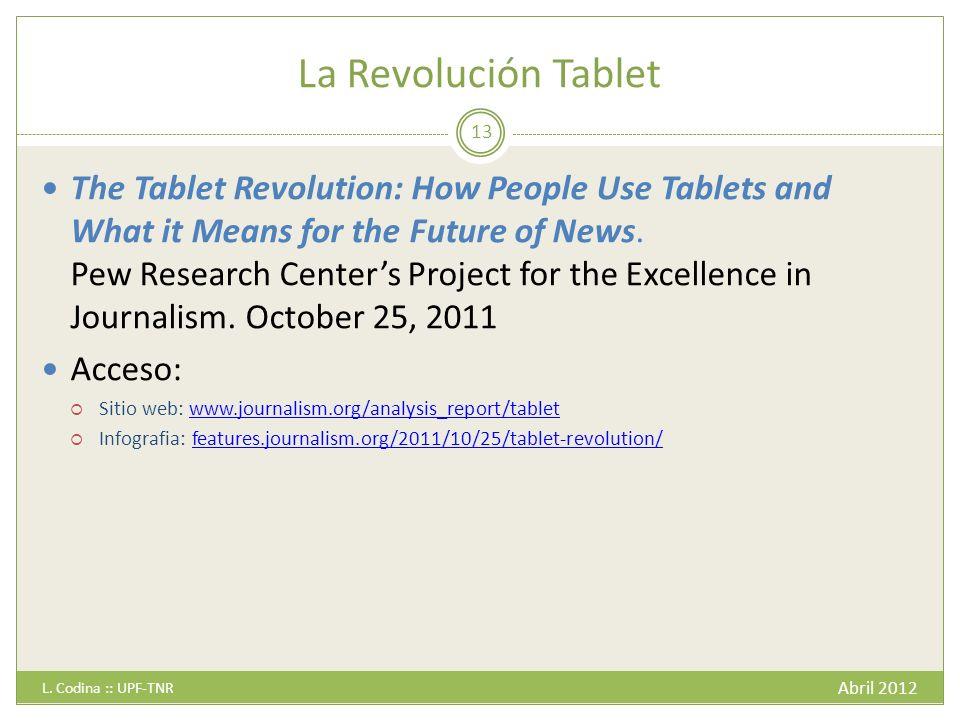 La Revolución Tablet Abril 2012 L.