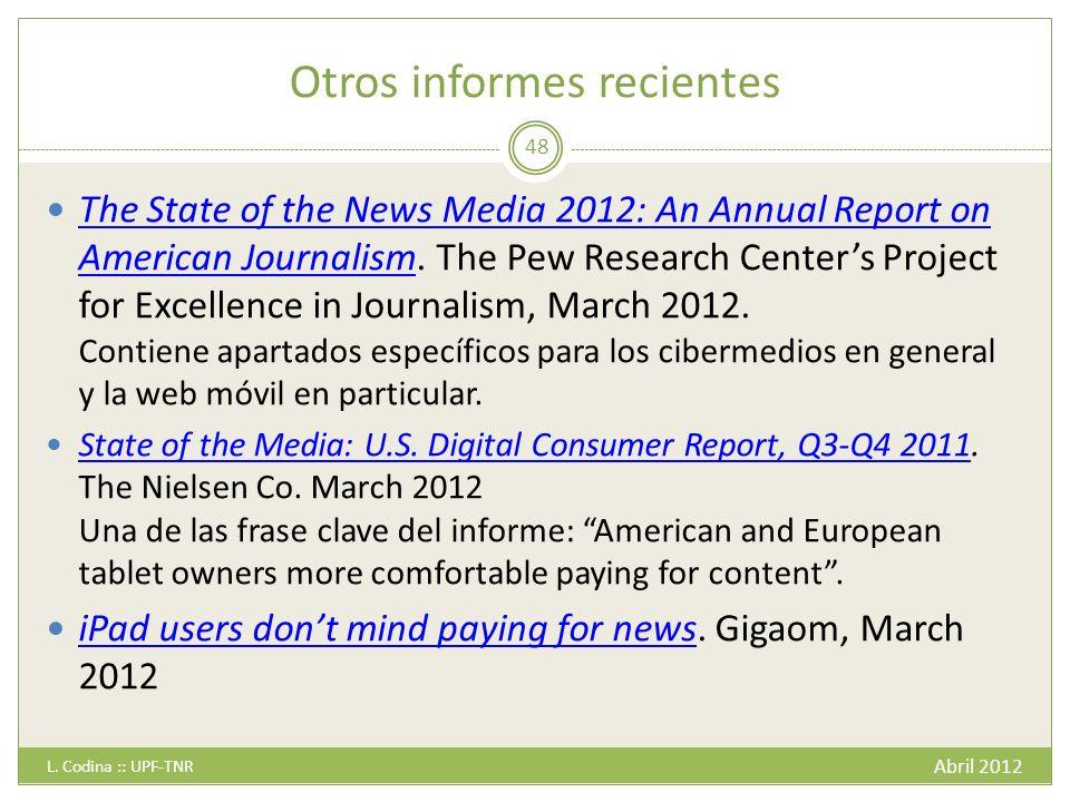 Otros informes recientes Abril 2012 L.