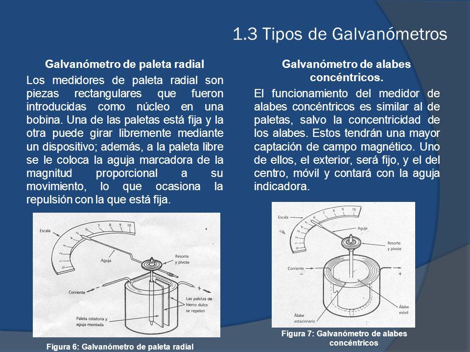 1.3 Tipos de Galvanómetros o Galvanómetros Térmicos En el caso de los galvanómetros térmicos, lo que se pone de manifiesto es el alargamiento producido, al calentarse por el Efecto Joule al paso de la corriente, un hilo muy fino arrollado a un cilindro solidario con la aguja indicadora.
