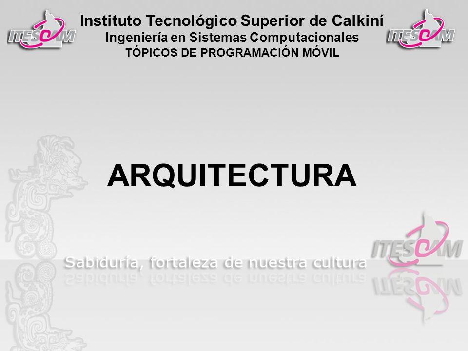 Instituto Tecnológico Superior de Calkiní Ingeniería en Sistemas Computacionales TÓPICOS DE PROGRAMACIÓN MÓVIL ARQUITECTURA