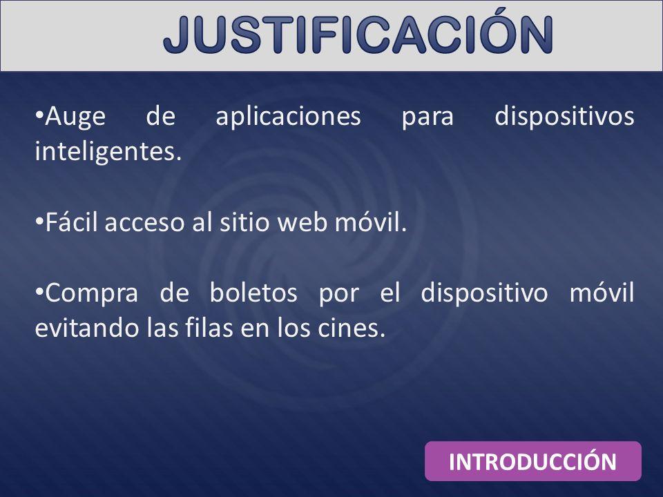 Auge de aplicaciones para dispositivos inteligentes. Fácil acceso al sitio web móvil. Compra de boletos por el dispositivo móvil evitando las filas en