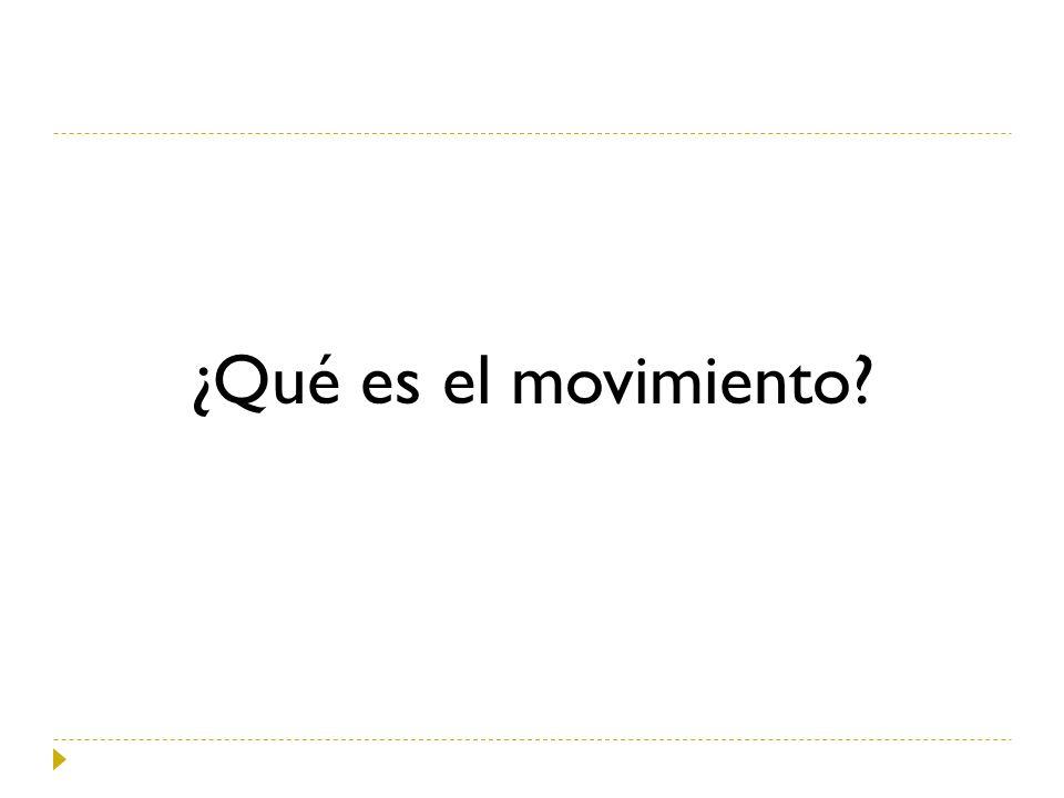 ¿Qué es el movimiento?