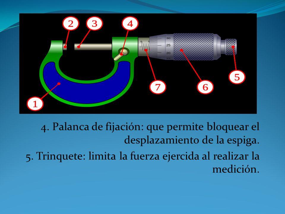 3. Espiga: elemento móvil que determina la lectura del micrómetro; la punta suele también tener la superficie en metal duro para evitar desgaste