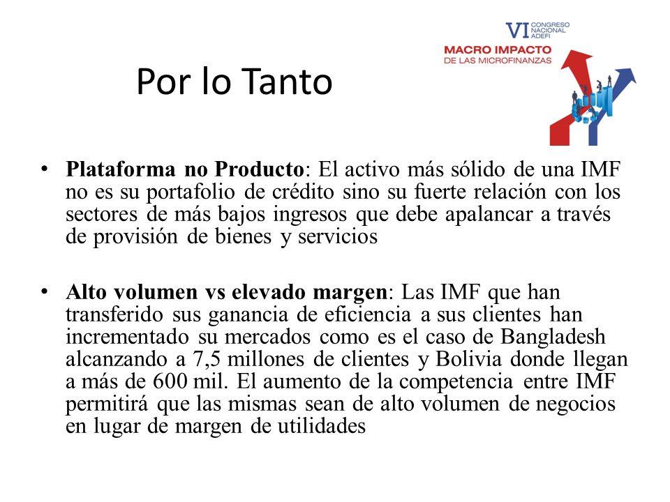 Paraguay Mayores cambios observados: El camino para pasar de una ONG o cooperativa de crédito a empresa financiera a Banco ha sido claramente definido con lo cual esto ha sucedido en el caso de algunas IMF que se han convertido en Bancos.