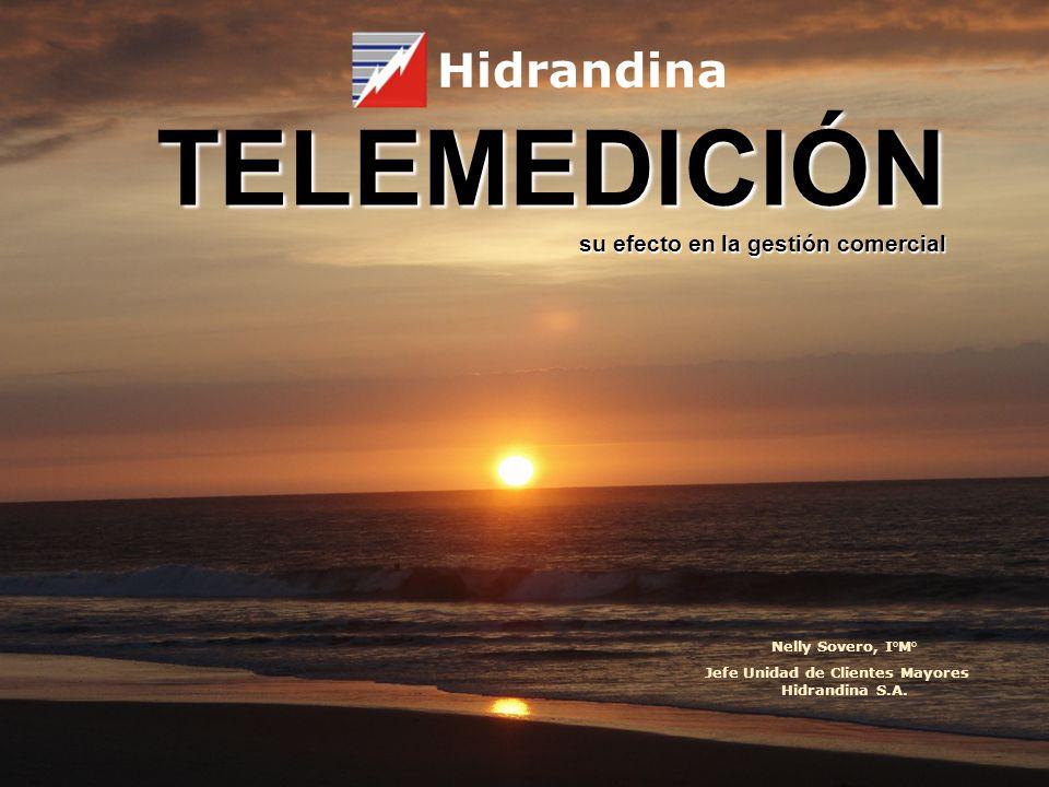 TELEMEDICIÓN su efecto en la gestión comercial Hidrandina Nelly Sovero, I°M° Jefe Unidad de Clientes Mayores Hidrandina S.A.
