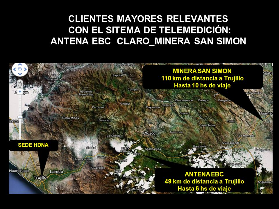 CLIENTES MAYORES RELEVANTES CON EL SITEMA DE TELEMEDICIÓN: ANTENA EBC CLARO_MINERA SAN SIMON