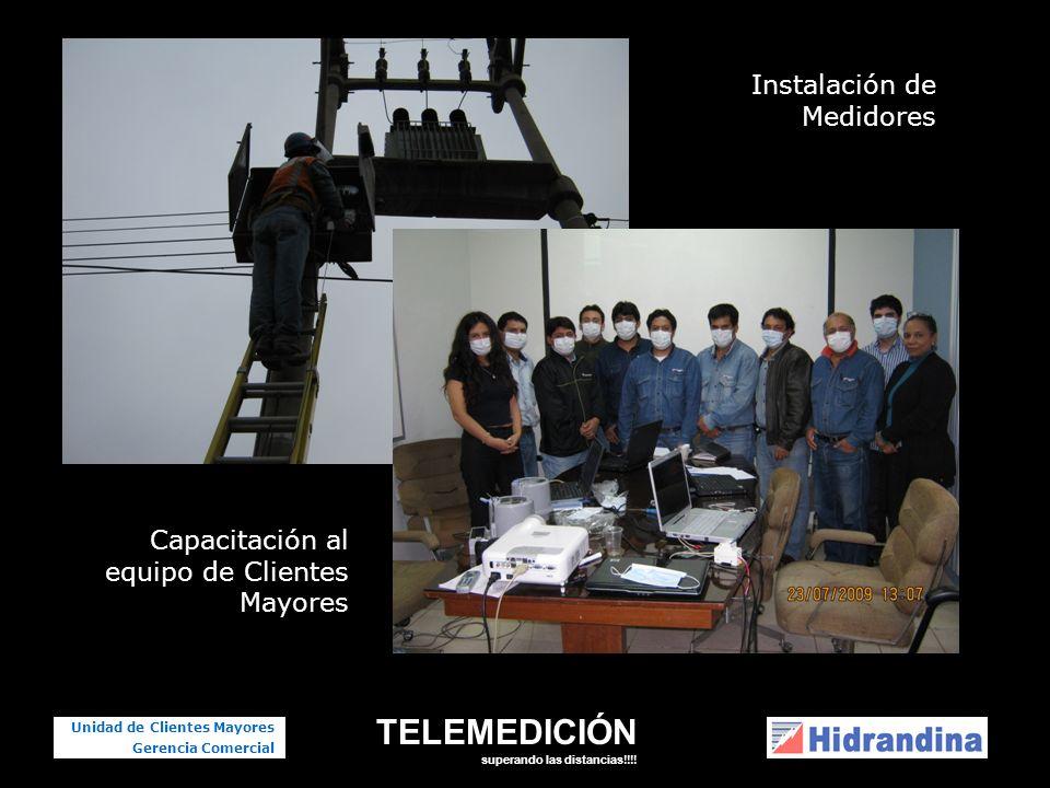 TELEMEDICIÓN superando las distancias!!!! Unidad de Clientes Mayores Gerencia Comercial Capacitación al equipo de Clientes Mayores Instalación de Medi