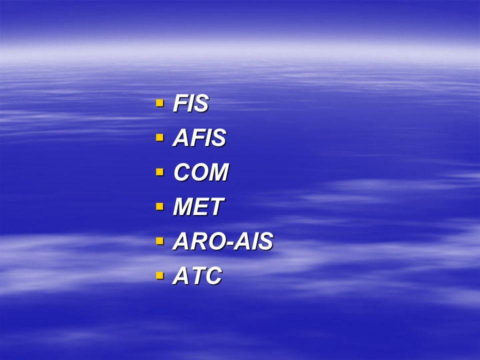 FIS FIS AFIS AFIS COM COM MET MET ARO-AIS ARO-AIS ATC ATC