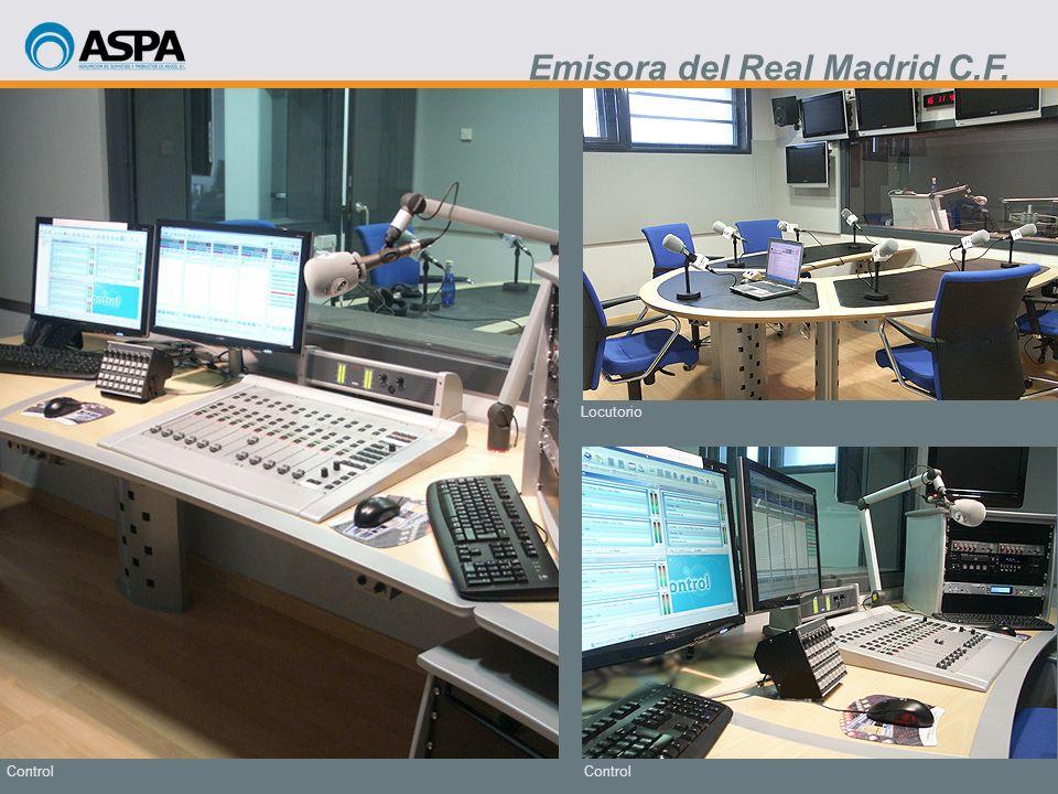 Control Locutorio Control Emisora del Real Madrid C.F.