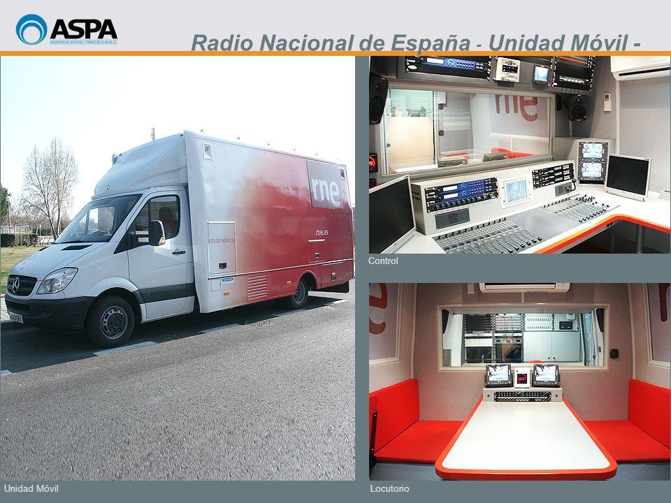 Locutorio Control Unidad Móvil Radio Nacional de España - Unidad Móvil -