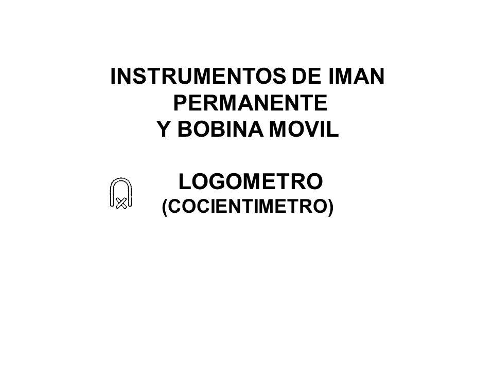 INSTRUMENTOS DE IMAN PERMANENTE Y BOBINA MOVIL LOGOMETRO (COCIENTIMETRO)