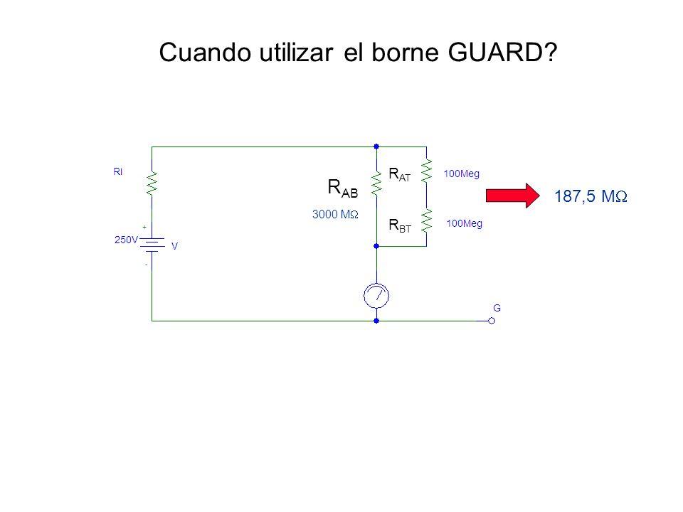 Cuando utilizar el borne GUARD? R AB R AT R BT 3000 M 187,5 M