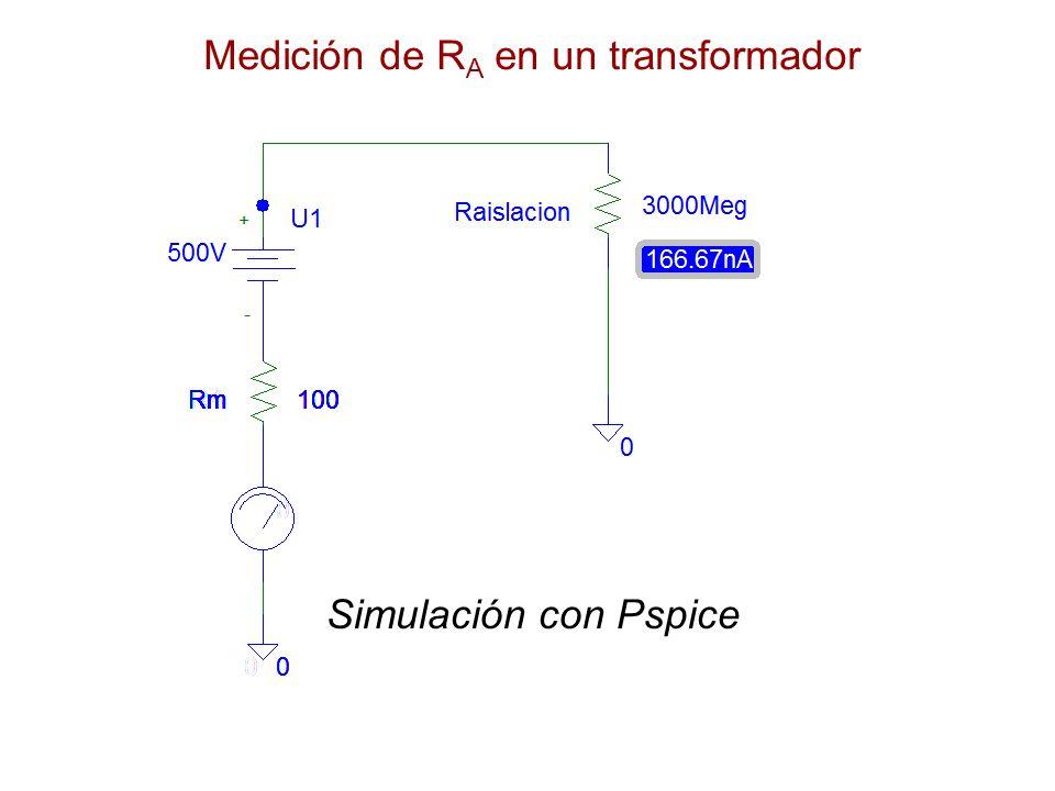 Medición de R A en un transformador Simulación con Pspice