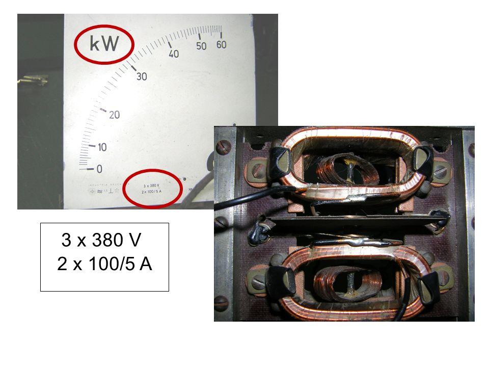 3 x 380 V 2 x 100/5 A