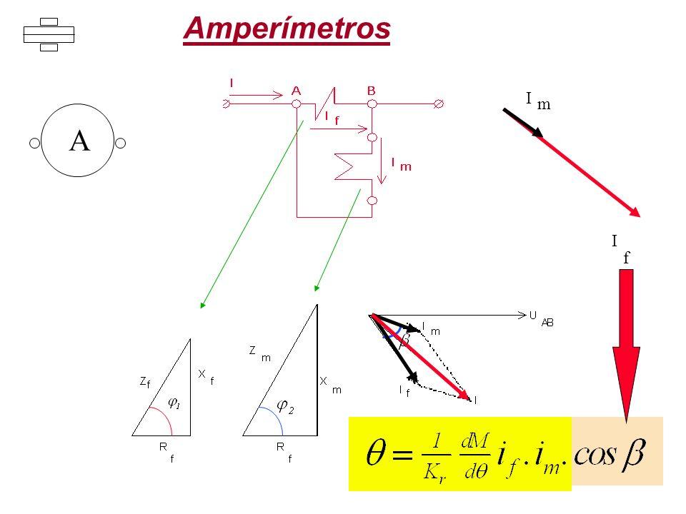Amperímetros A I I m f