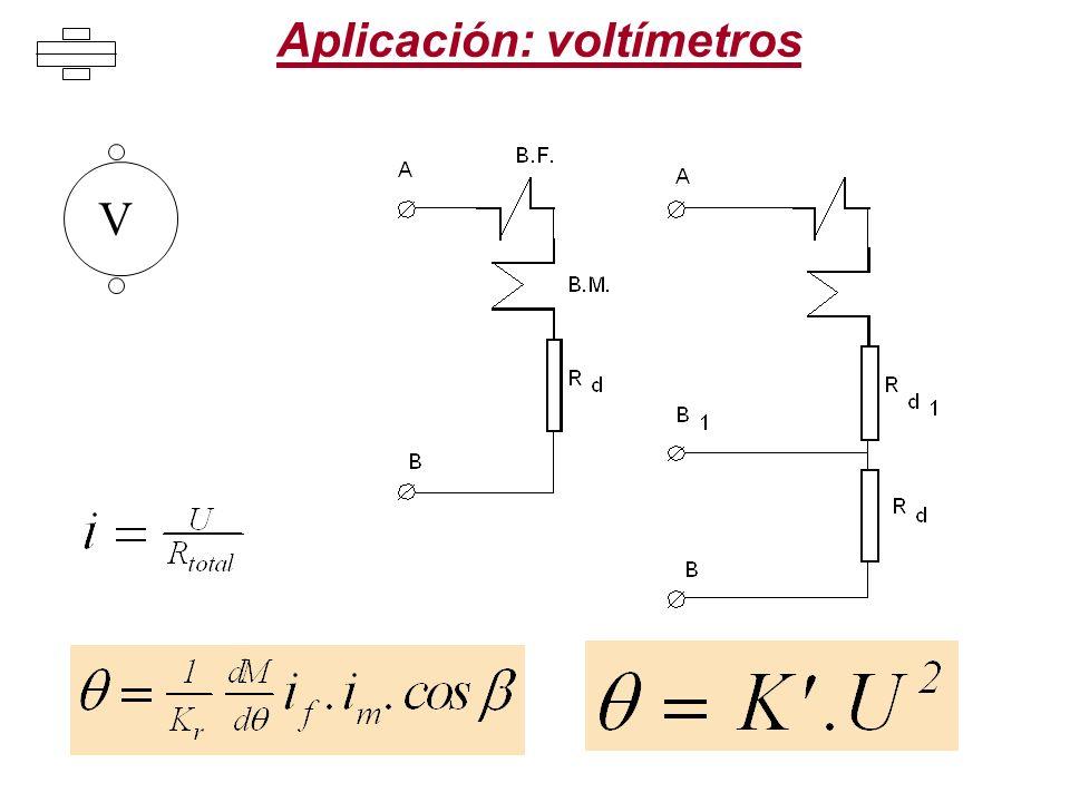 Aplicación: voltímetros V