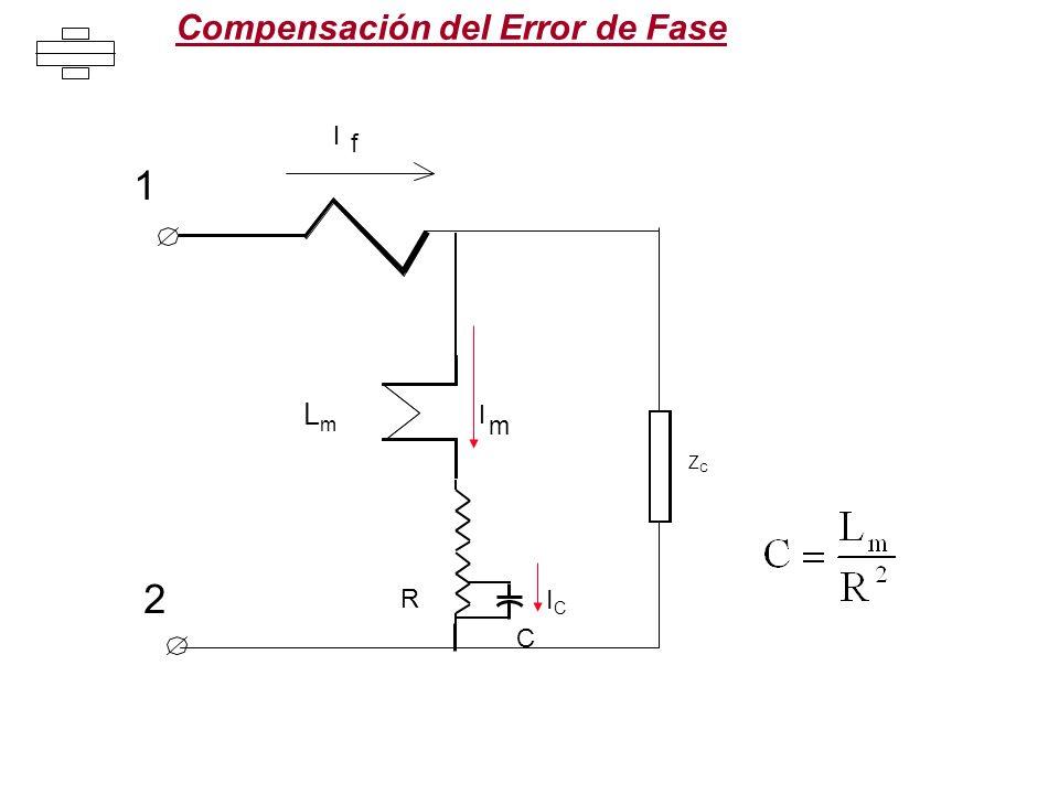 Compensación del Error de Fase I f I m ICIC C ZCZC 1 2 R LmLm