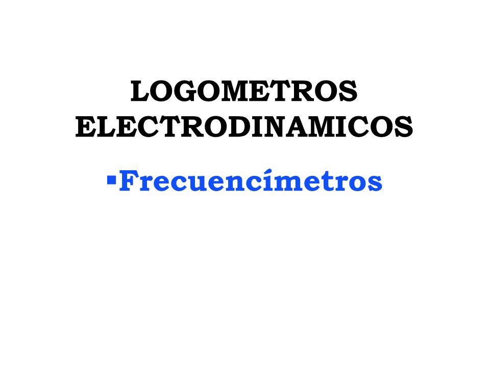 LOGOMETROS ELECTRODINAMICOS Frecuencímetros