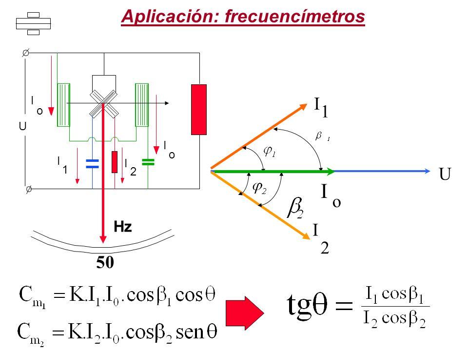 Aplicación: frecuencímetros U I 1 I 2 o I 50