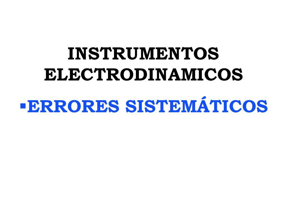 INSTRUMENTOS ELECTRODINAMICOS ERRORES SISTEMÁTICOS
