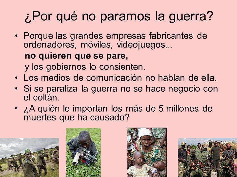 ¿Por qué no paramos la guerra.