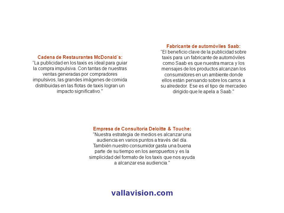 vallavision.com Fabricante de automóviles Saab: El beneficio clave de la publicidad sobre taxis para un fabricante de automóviles como Saab es que nue