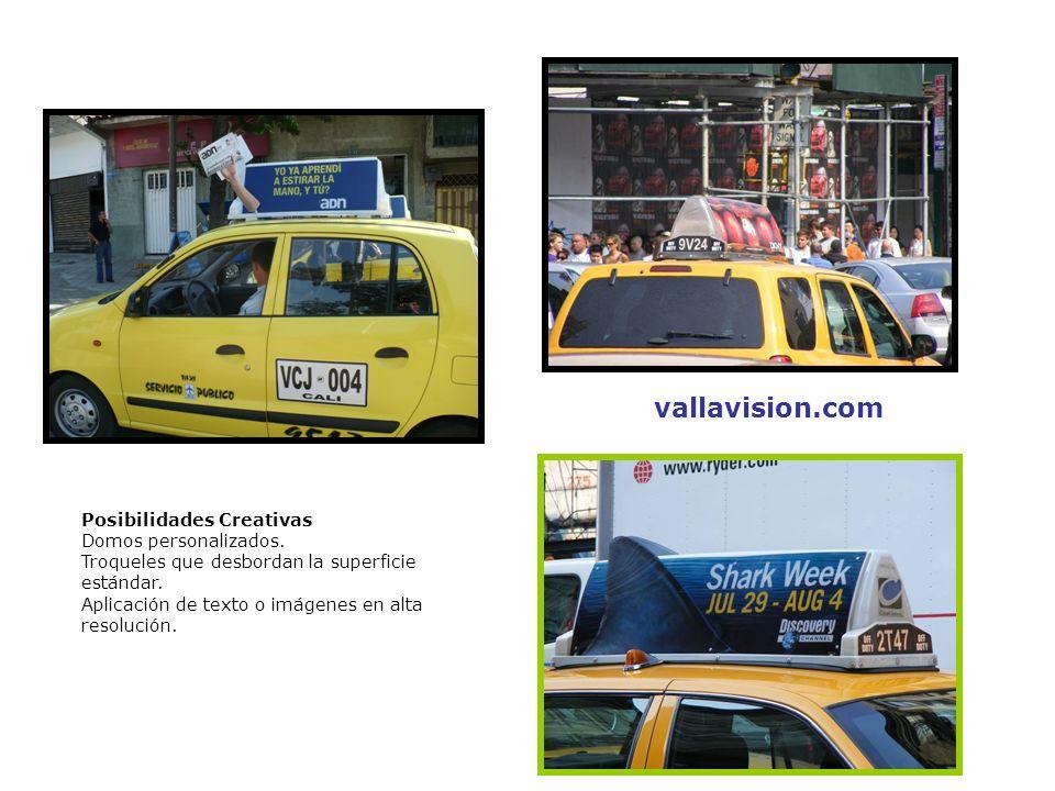 Producto Vallataxi – Colombia Especificaciones Técnicas Estructura traslúcida con iluminación interior.