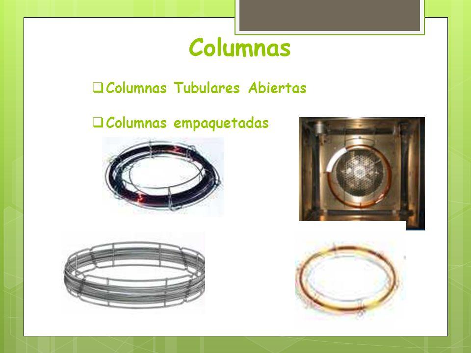 Columnas Columnas Tubulares Abiertas Columnas empaquetadas