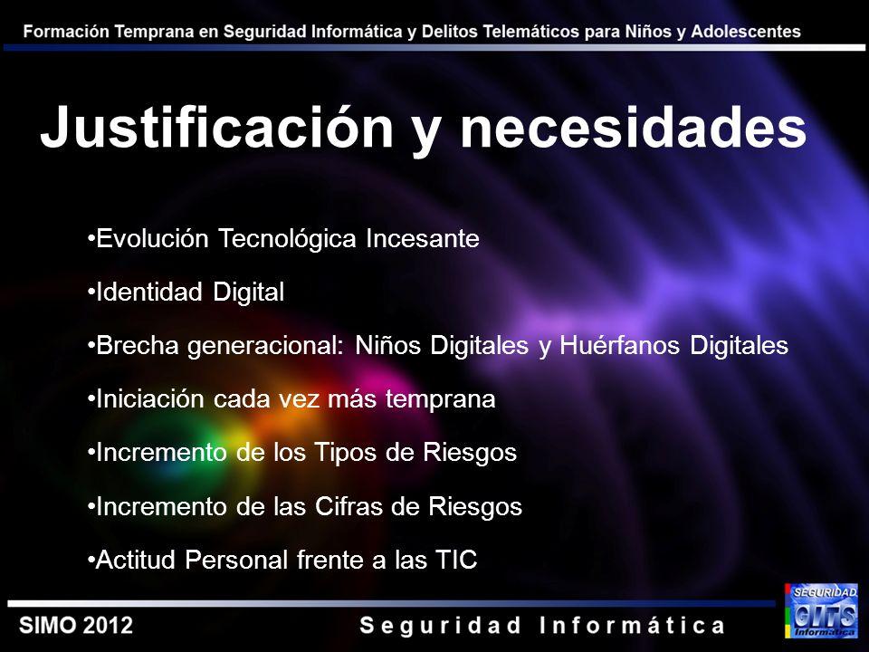 Evolución Tecnológica Incesante Identidad Digital Brecha generacional: Niños Digitales y Huérfanos Digitales Iniciación cada vez más temprana Incremen