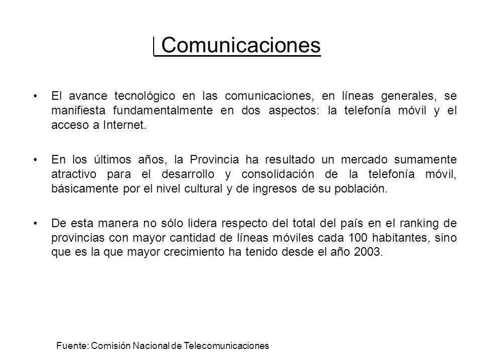 Comunicaciones El avance tecnológico en las comunicaciones, en líneas generales, se manifiesta fundamentalmente en dos aspectos: la telefonía móvil y el acceso a Internet.