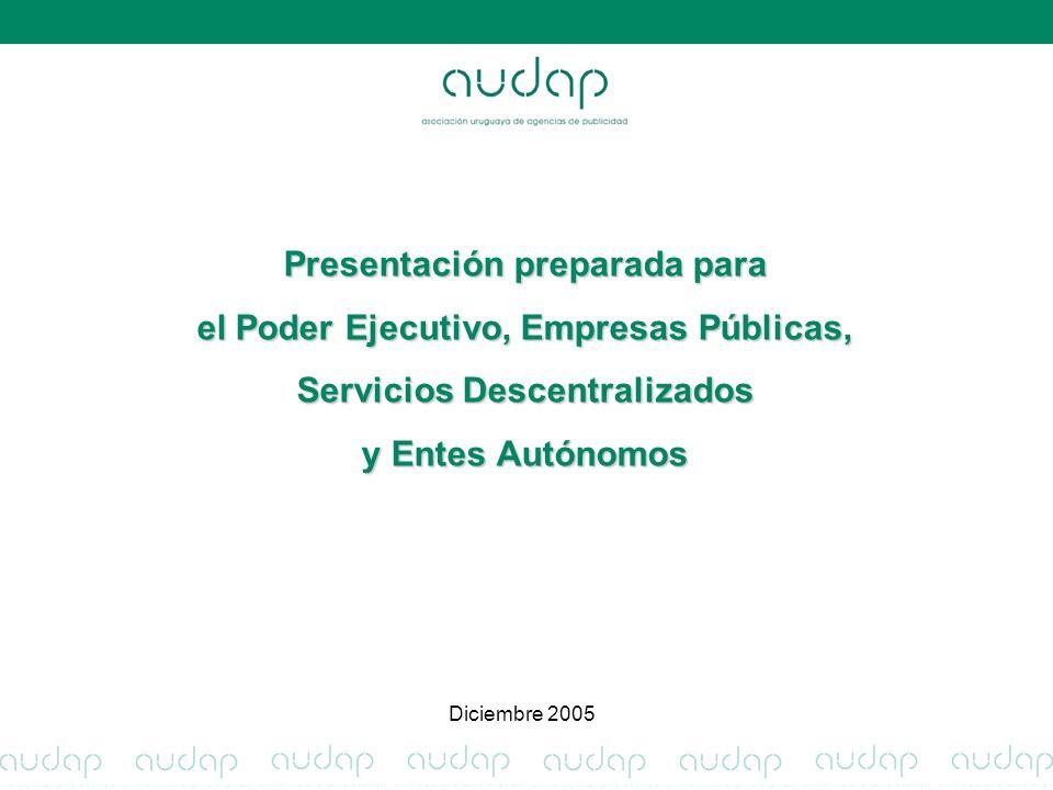 Presentación preparada para el Poder Ejecutivo, Empresas Públicas, Servicios Descentralizados y Entes Autónomos Diciembre 2005